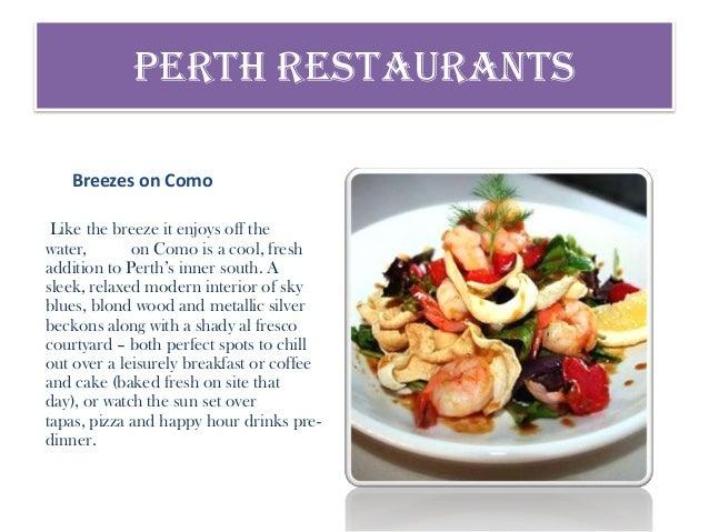 Como South Perth Restaurants
