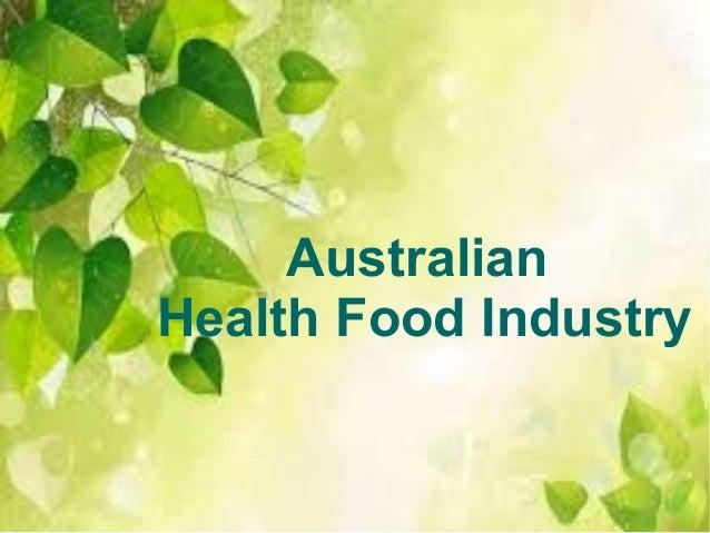 Australian Health Food Industry