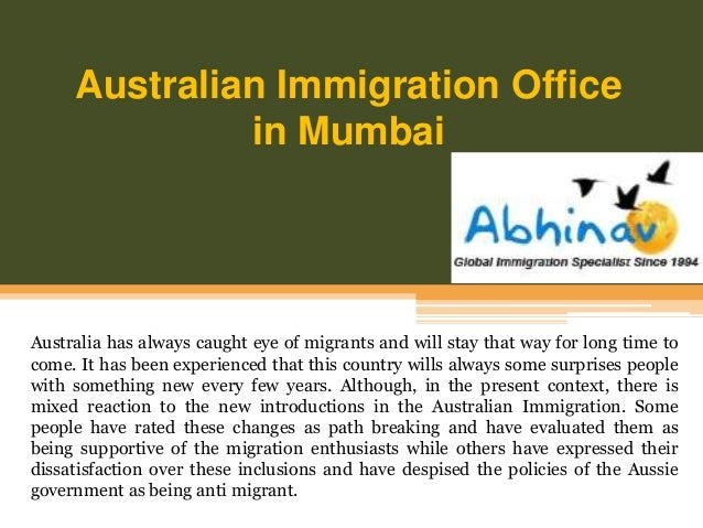 australian immigration office in mumbai. Black Bedroom Furniture Sets. Home Design Ideas