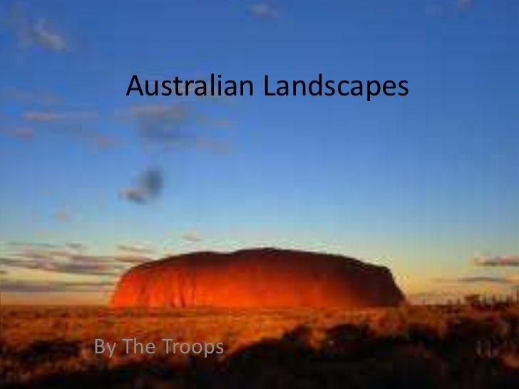 Australian Landscapes<br />By The Troops<br />