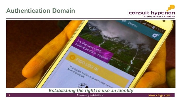 www.chyp.comPlease copy and distribute Authentication Domain Establishing the right to use an identity 11