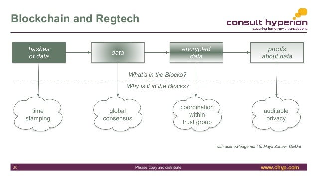 www.chyp.comPlease copy and distribute Blockchain and Regtech 30