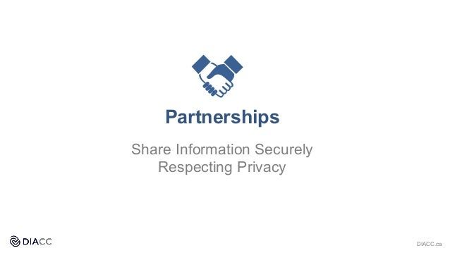 Partnerships Share Information Securely Respecting Privacy DIACC.ca
