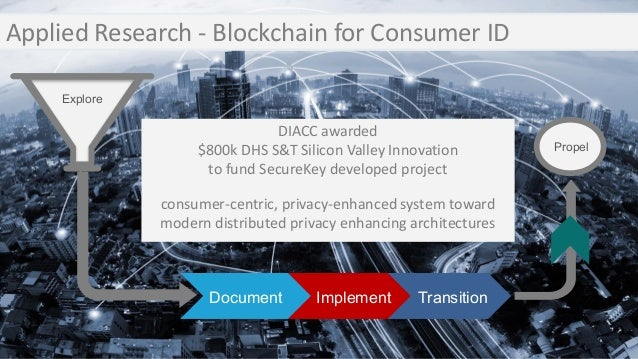 Transition DIACC awarded $800k DHS S&T Silicon Valley Innovation to fund SecureKey developed project consumer-centric, pri...