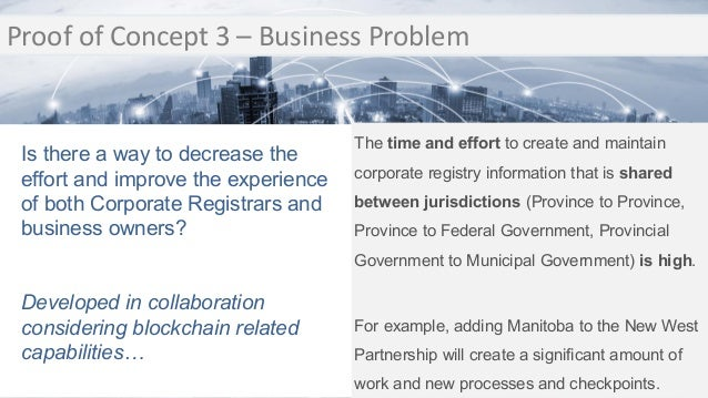 Transition Proof of Concept 3 – Business Problem Transition The time and effort to create and maintain corporate registry ...