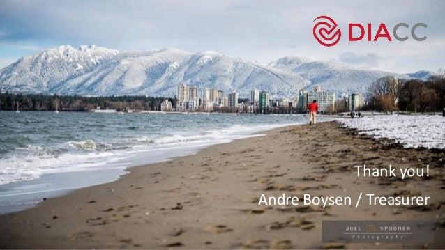 Thank you! Andre Boysen / Treasurer