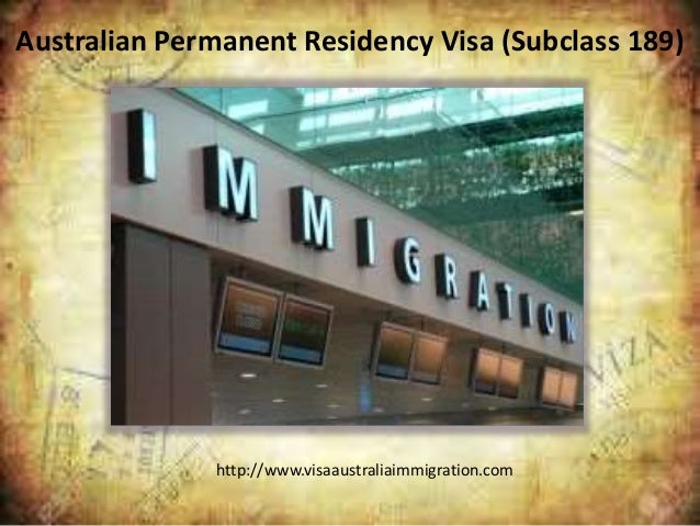 how to get perminent residency for australia