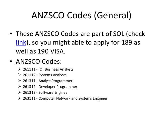 anzsco 263111 View anzsco code 263111 rolesdocx from maths 101 at westminster kingsway college computer network and systems engineer anzsco 263111 description plans, develops, deploys, tests and.