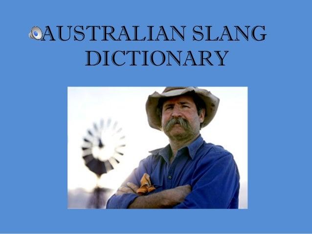 AUSTRALIAN SLANG DICTIONARY