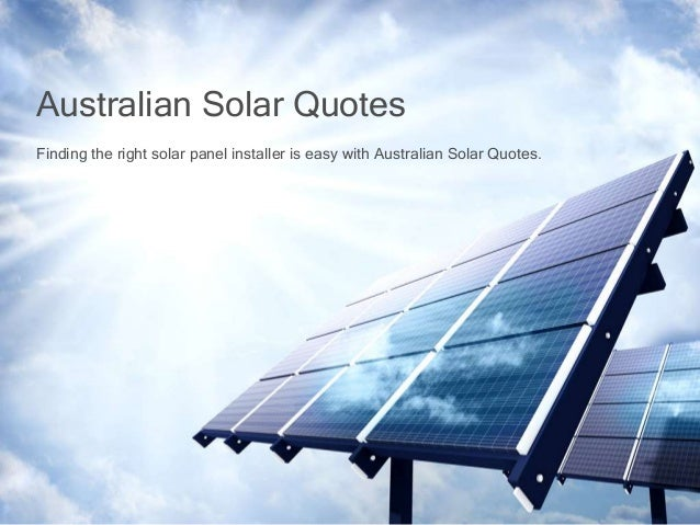 finding the right solar panel installer is easy with australian solar…, Presentation templates