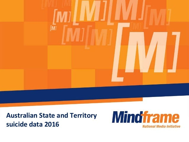 Australian State and Territory suicide data 2016
