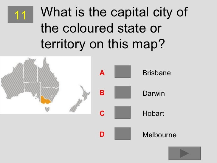 Australian States And Capital Cities