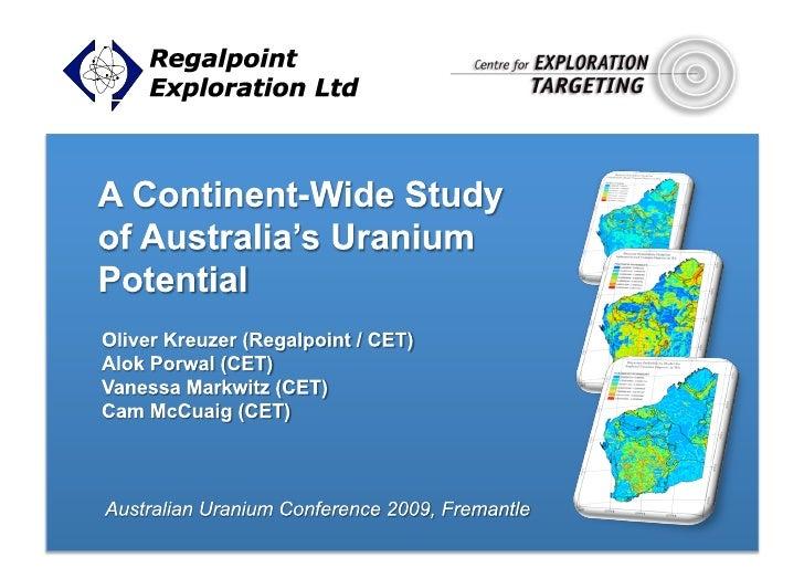PRESENTATION OUTLINE          Regalpoint Exploration Ltd          •Overview           Prospectivity Study - Introduction...