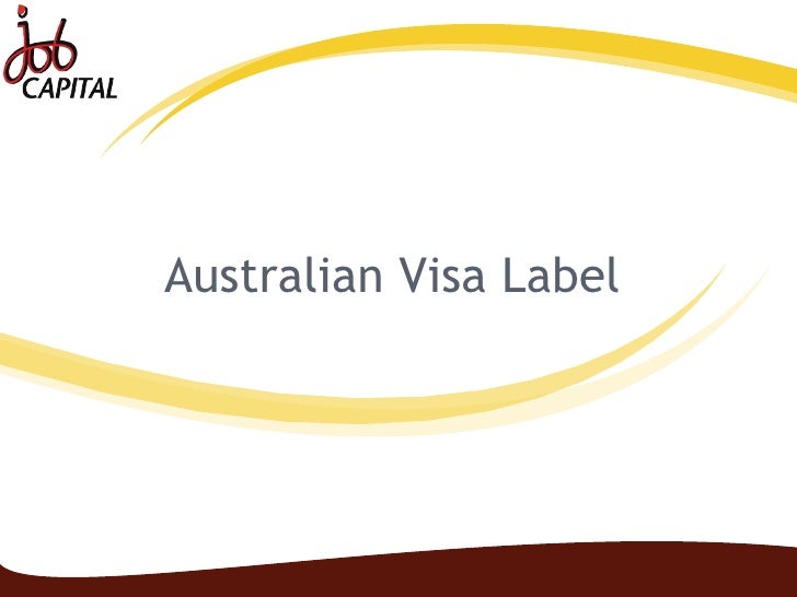 Australian Visa Label