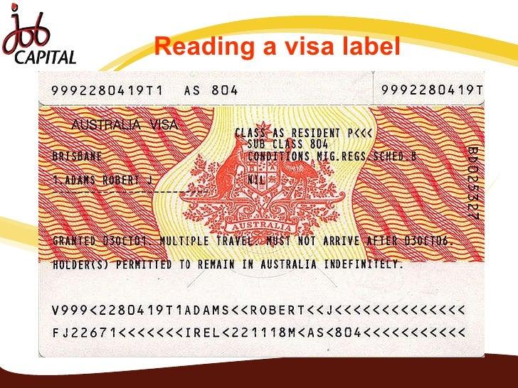 Image Result For Australian Visa Label