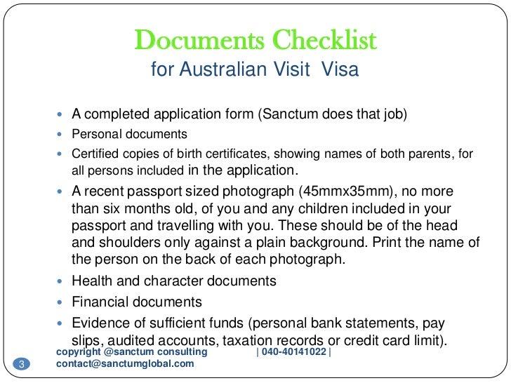 Australian visit visa sanctum consulting