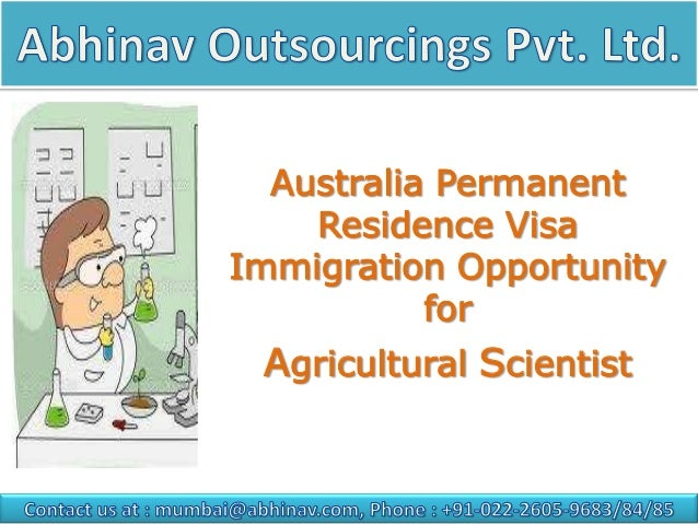 Australia Permanent Residence Visa Immigration Opportunity for  Agricultural Scientist