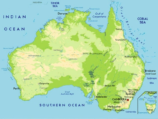 Australia Map Natural Features.Australia Physical Features