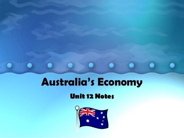 Australia's Economy Unit 12 Notes
