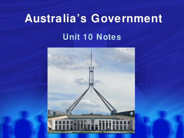 Australia's Government Unit 10 Notes