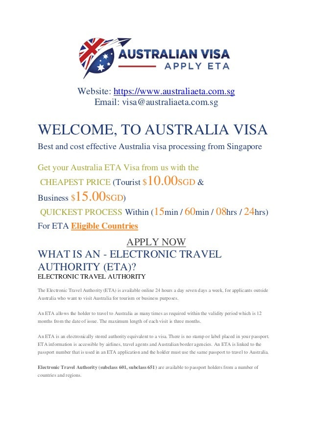 Australia Visa Singapore Australia Tourist Visa Singapore