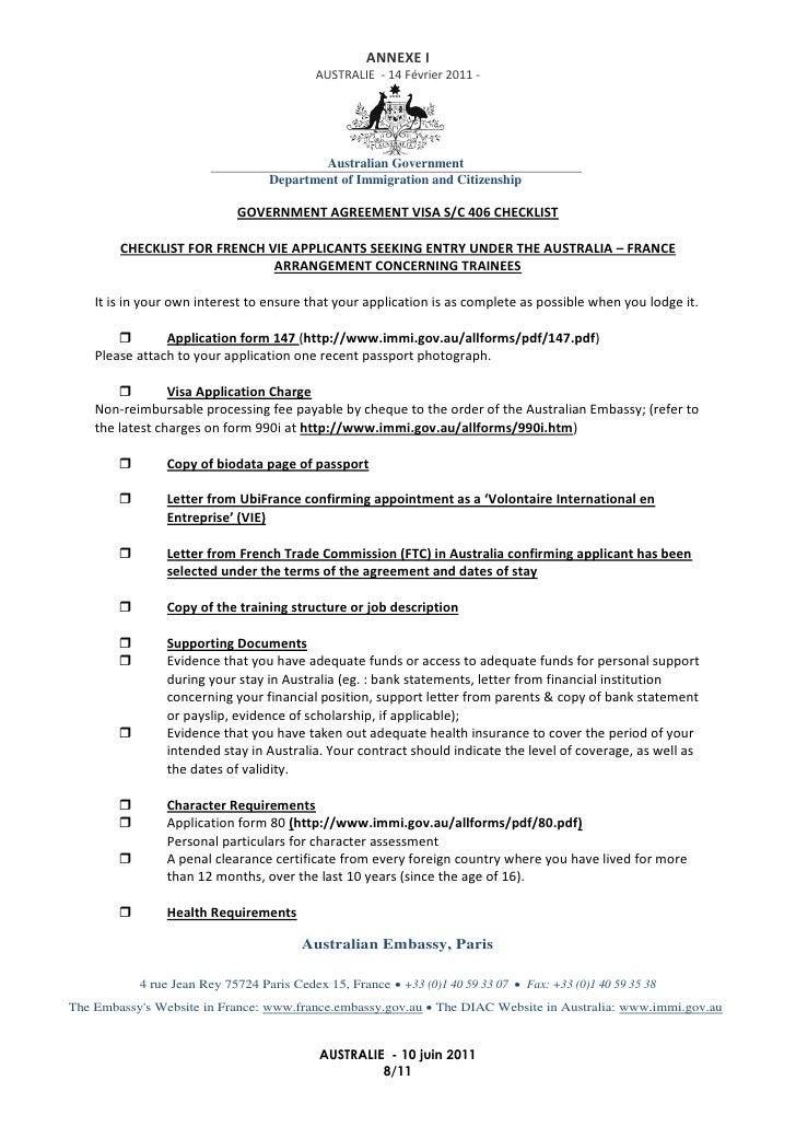 vie-australie-visa-406-8-728 Visa Application Form For Australian on italy schengen, b1 b2, enter japan sample, ds-260 immigrant,