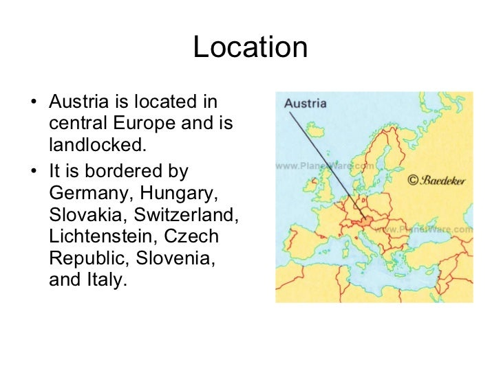 Austria AAC PowerPoint - Austria location in europe