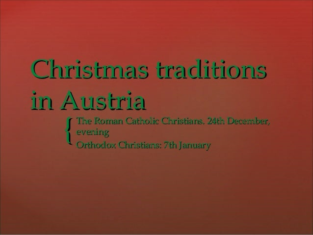 Austrian christmas traditions