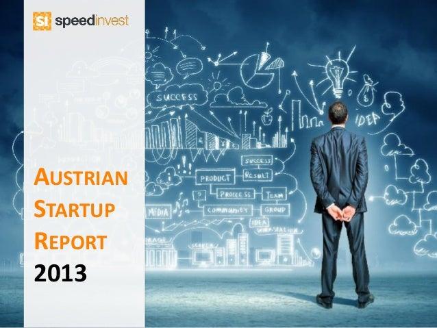AUSTRIAN STARTUP REPORT 2013