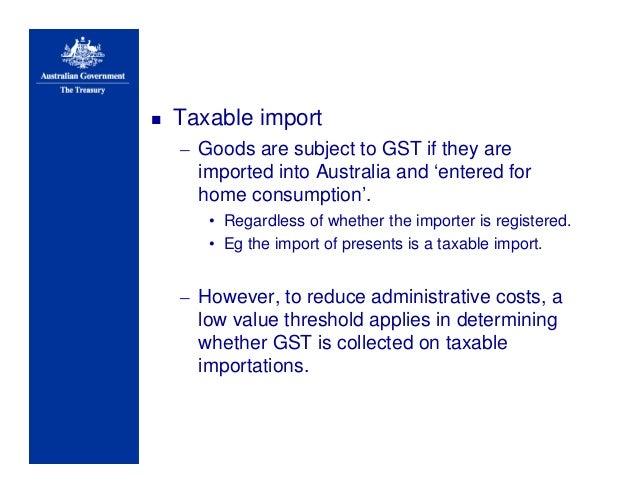 Aust Treasury Gst