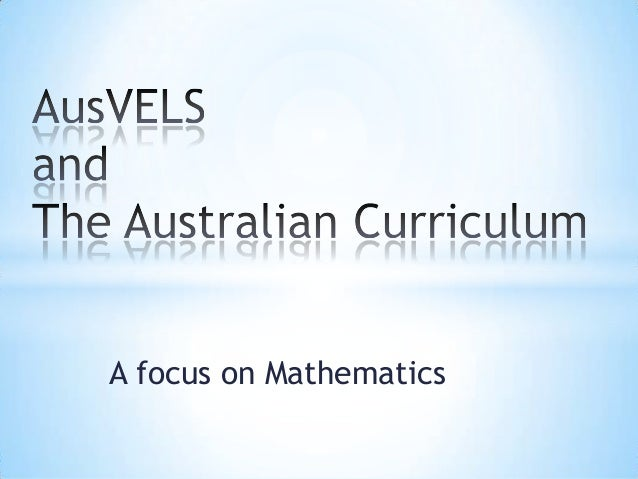 A focus on Mathematics