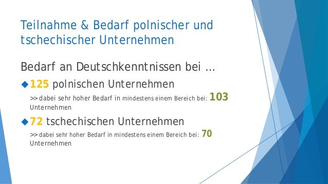 Sprachbedarf in Unternehmen - PL, DE, SK, CS Slide 3