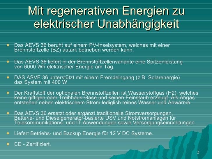 Autarkes energiesystem aevs 36 Slide 2
