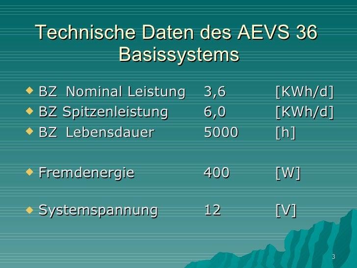 Autarkes energiesystem aevs 36 Slide 3