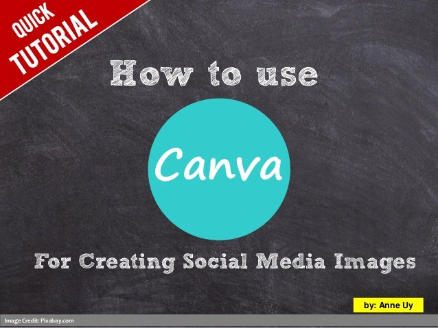 How to use Image Credit: Pixabay.com by: Anne Uy For Creating Social Media Images Canva