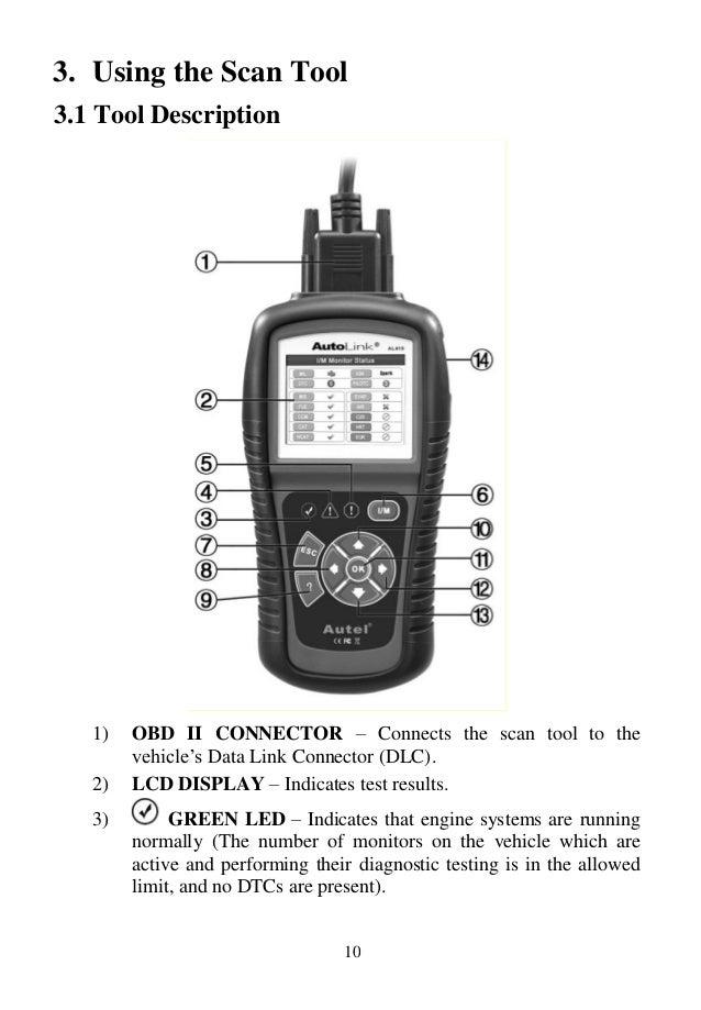 Autel Autolink Al419 User Manual