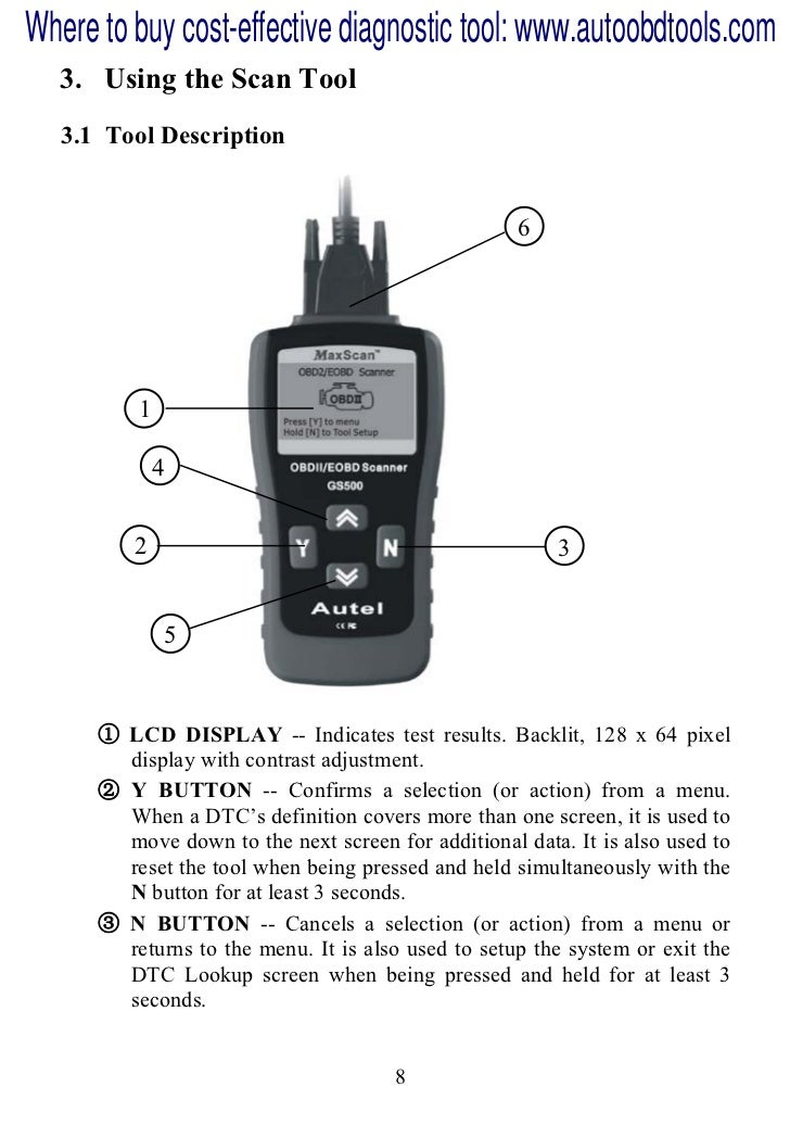 Autel max scan-gs500-scan-tool-user-manual
