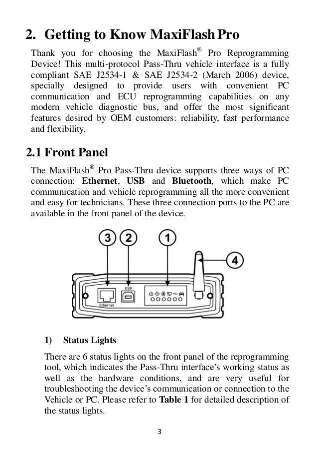 Autel MaxiFlash Elite J2534 ECU Programming Tool User Manual