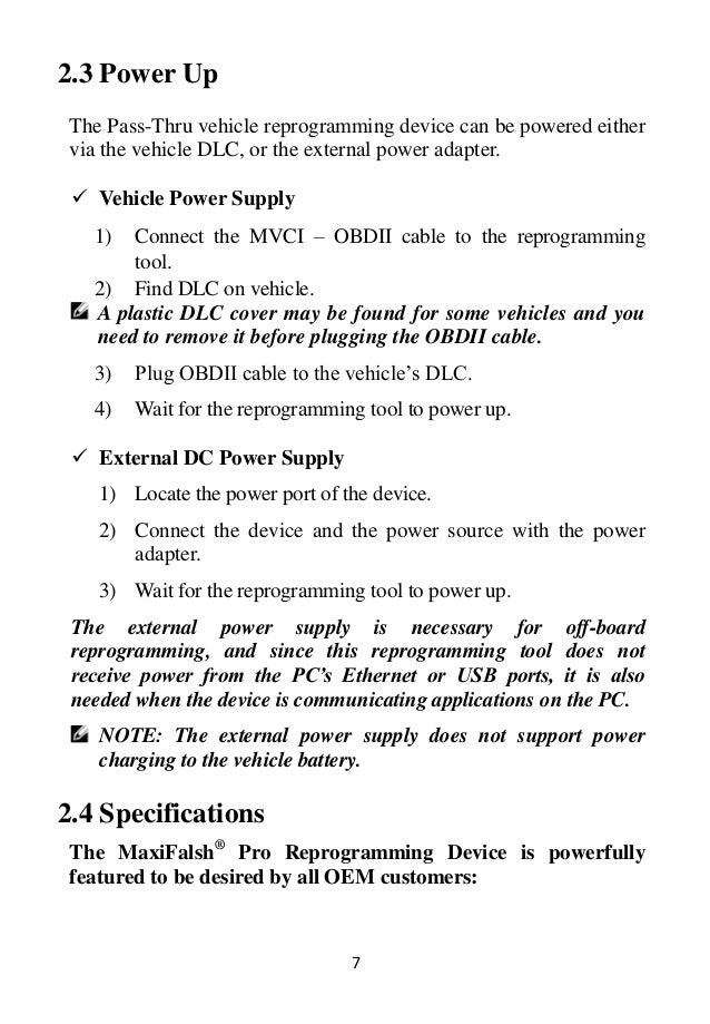 Autel MaxiFlash Elite J2534 ECU Programming Tool User Manual