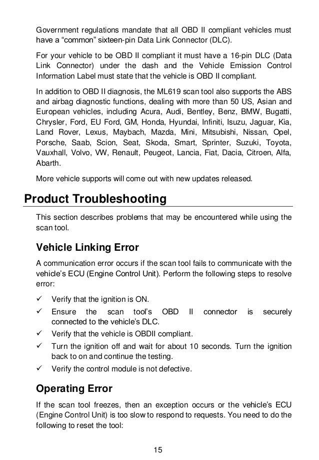 Autel MaxiLink ML619