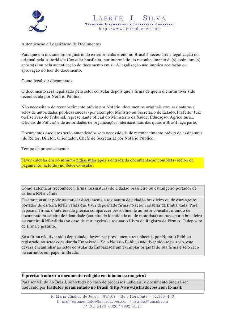 Autenticação consular de documentos