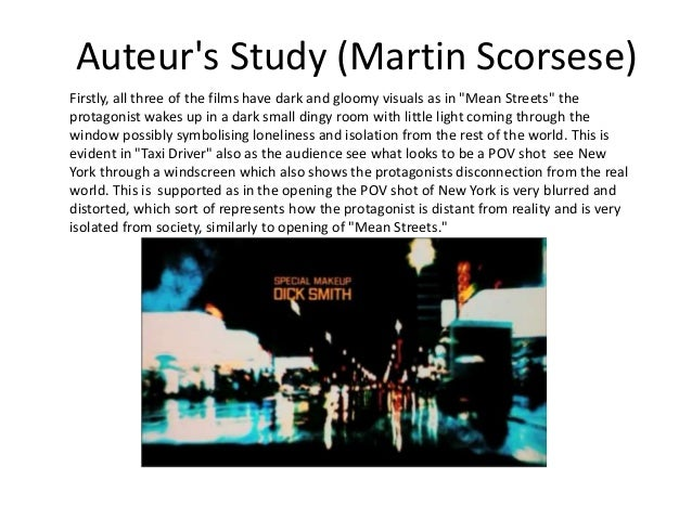 scorsese as an auteur essay The auteur debate was initiated by jean-luc godard and francois truffaut, 2 key french new wave directors both scorsese and tarantino are considered by many to be.