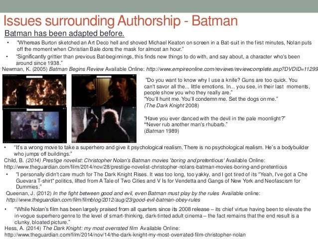 chris nolan auteur essay In this fast-moving and entertaining ted talk, shawn achor explains how our formula for success is backwards.