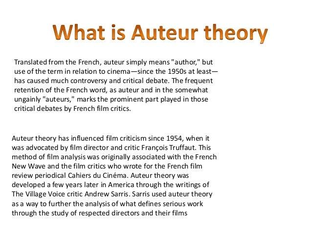 Auteur theory essay