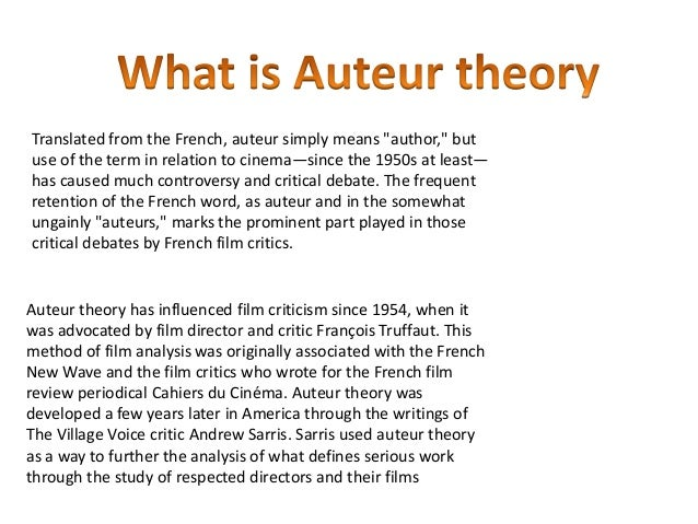 notes on the auteur theory essay