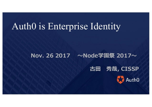 Auth0 node fest2017-workshop