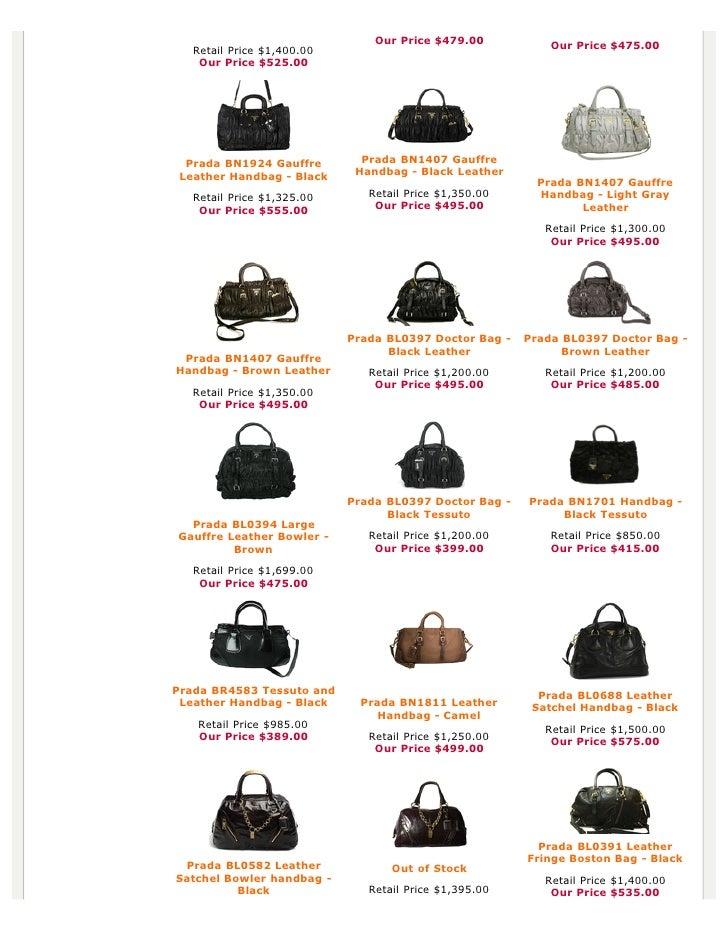 Prada Bags Original Price