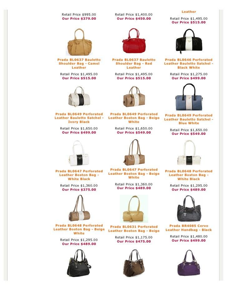 a5e3c30d Authentic Prada Handbags, Bag, Purses at Discounted Prices -pdf