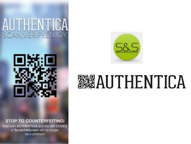 The war against counterfeiting never been so simple thanks to Authentica the first mobile platform to authenticate product...