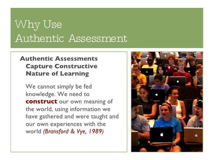 example of authentic assessment in early childhood